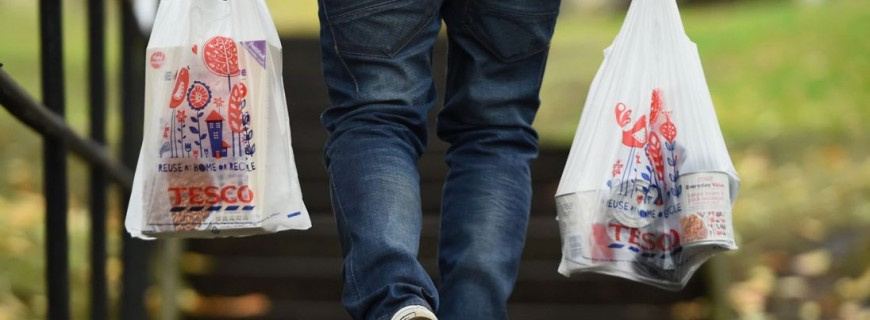 UK to double 5p charge on plastic bags